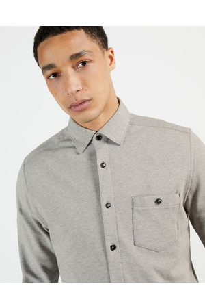 Ted Baker Herren Longsleeves - Long Sleeve Textured Shirt