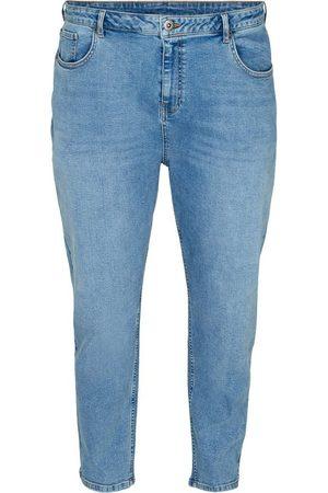 Zizzi Mom-Jeans Große Größen Damen Cropped Mom Fit Jeans