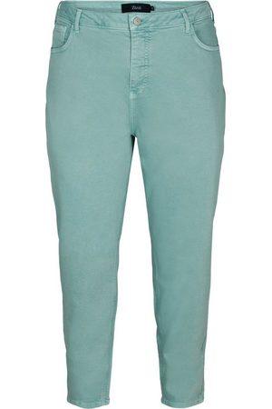 Zizzi Mom-Jeans Große Größen Damen Hochtaillierte Baumwolljeans