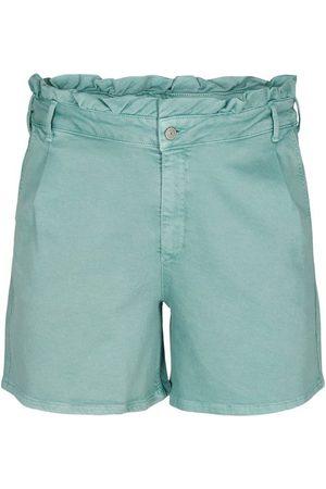 Zizzi Jeansshorts Große Größen Damen Denim Baumwollshorts mit Taschen