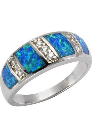 vivance collection Fingerring »925/- Sterling synth. Opal Zirkonia«, Ring
