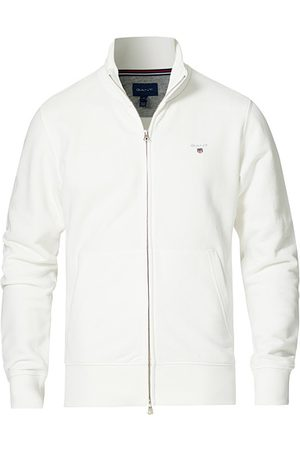 GANT Original Shield Logo Full-Zip Sweater Eggshell