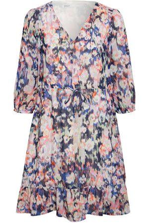 ONLY Kleid Mit 3/4-Arm pink
