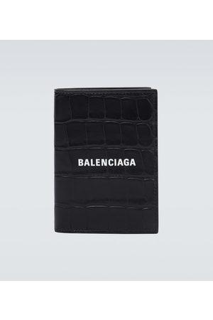 Balenciaga Bedrucktes Portemonnaie aus Leder