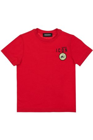 Dsquared2 Mädchen T-Shirts, Polos & Longsleeves - T-shirt Aus Baumwolljersey Mit Patches