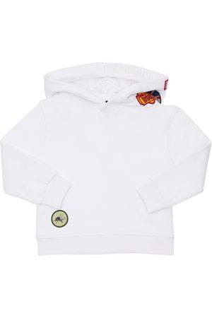Dsquared2 Mädchen Sweatshirts - Hoodie Aus Baumwollfleece Mit Patches
