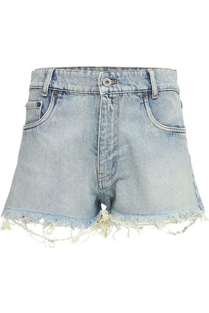 Miu Miu Shorts Aus Baumwolldenim