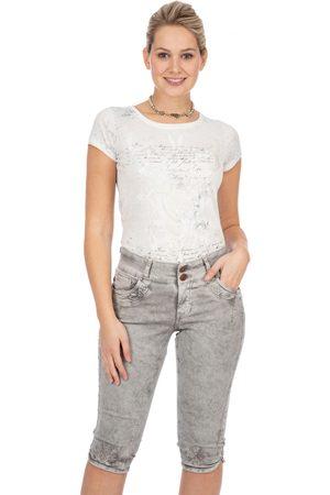 hangOwear Damen Cropped - Jeans Kniebund HENDRINA