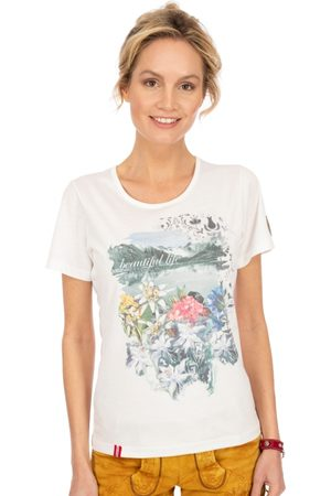 Almgwand Damen T-Shirts - T-Shirt BERBACHALM offwhite