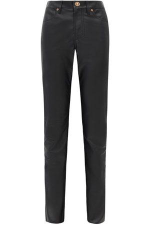 GABRIELA HEARST Charles Leather Slim-leg Trousers