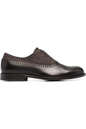 Scarosso Oxford-Schuhe mit kariertem Einsatz