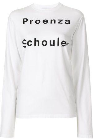 PROENZA SCHOULER WHITE LABEL Langarmshirt mit Logo