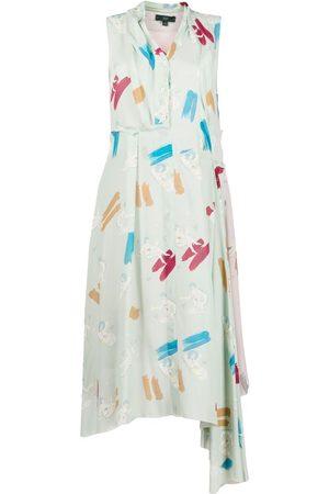 JEJIA Damen Freizeitkleider - Hemdkleid mit grafischem Print