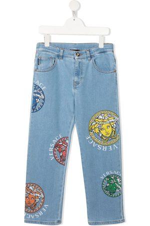 VERSACE Gerade Jeans mit Medusa-Print