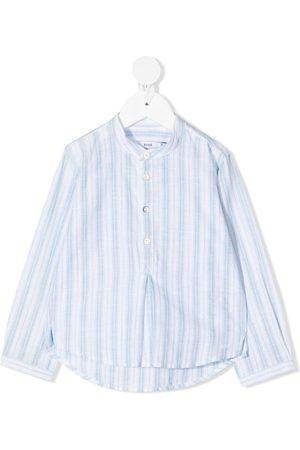 KNOT Gestreiftes Hemd ohne Kragen