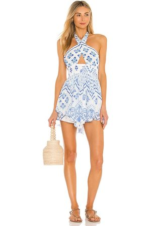 ROCOCO SAND Leas Cutout Dress in ,Blue. Size S.