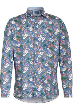 Olymp Leinenhemd Casual Modern Fit blau