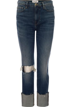 Frame Damen Straight - Jeans Le Nouveau Straight Raw Big Cuff , Damen, Größe: W23