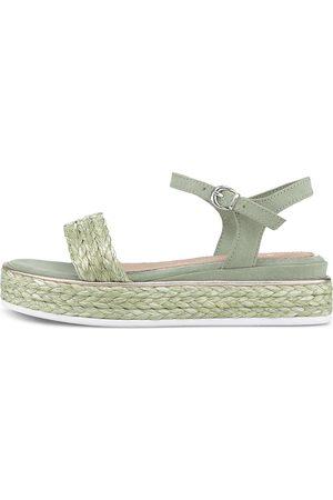 MARCO TOZZI by GUIDO MARIA KRETSCHMER Damen Sandalen - Bast-Sandale in hellgrün, Sandalen für Damen