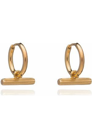 Rachel Jackson Damen Uhren - Ohrringe Mini T Bar Huggie Hoop Earrings gold