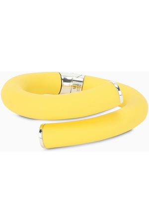 Bottega Veneta Yellow PVC and sterling silver bracelet