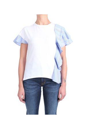 ROSE' A POIS T-Shirt CAMOSCIO Kurzarm Damen