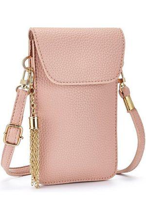 Lascana Damen Handy - Umhängetasche, modische Minibag, Handytasche zum Umhängen mit praktischem Sichtfenster und abnehmbarer Tassel