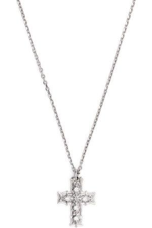 EMANUELE BICOCCHI Herren Halsketten - Halskette mit Diamanten-Kreuzanhänger