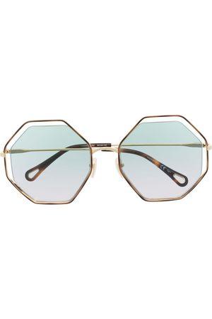 Chloé Poppy Sonnenbrille mit sechseckigem Gestell