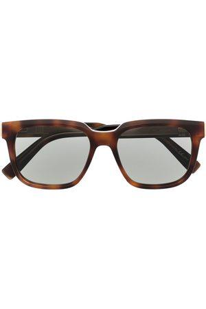 Dunhill Eckige Sonnenbrille in Schildpattoptik