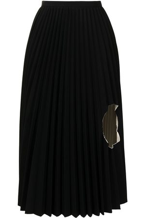 TOGA PULLA Cut-out knife pleat skirt