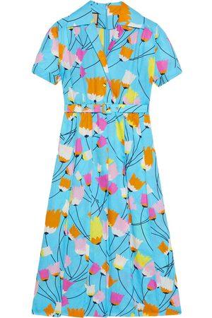 Gucci Tulip print pleated dress