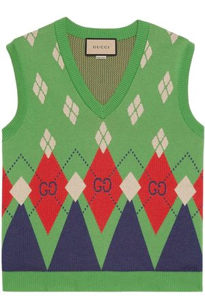 Gucci Pullunder mit GG Argyle-Muster