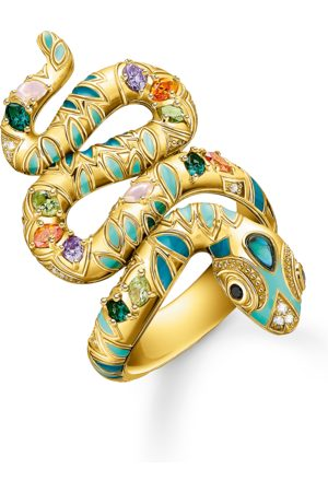 Thomas Sabo Ring Bunte Schlange gold