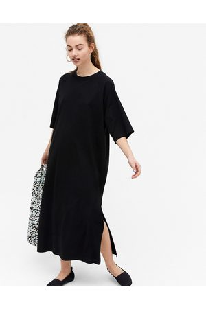 Monki Kenny - Midi-T-Shirt-Kleid aus Bio-Baumwolle in
