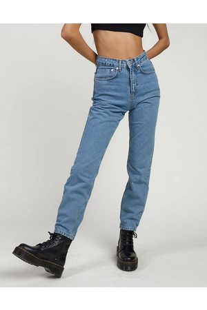 The Ragged Priest – Mom-Jeans in heller Denim-Waschung