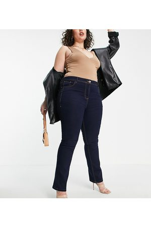 Yours – Bootcut-Jeans in Indigo-Waschung