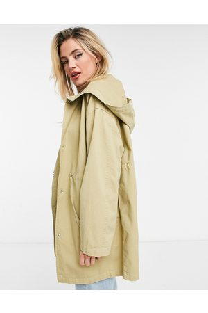ASOS – Leichter Parka in Stone-Neutral