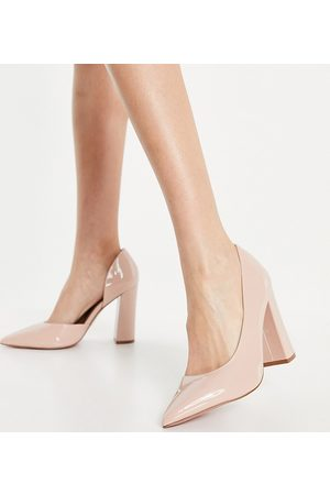 ASOS Wide Fit – Walter – D'Orsay-Pumps in -Neutral