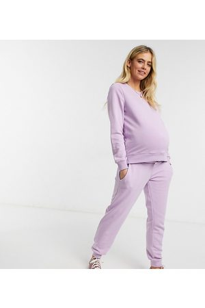 Pieces Maternity Pieces – Umstandsmode – Jogginghose in Flieder, Kombiteil-Lila