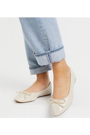 Truffle Collection Wide Fit – Easy – Flache Ballerinas in -Neutral