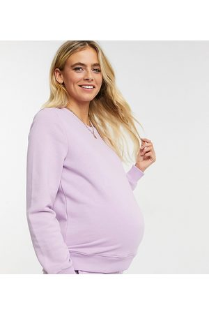 Pieces Maternity Pieces Umstandsmode – Sweatshirt in Flieder, Kombiteil-Mehrfarbig