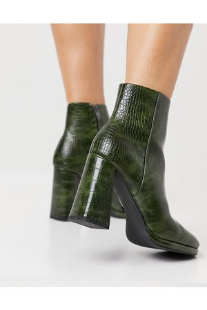 ASOS – Eternity – Ankle-Boots mit hohem Absatz in