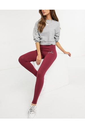 The Couture Club – Leggings mit hoher Taille und Umriss-Logo