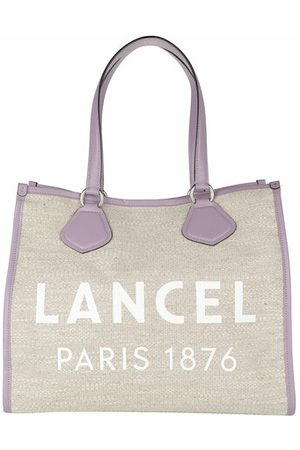 LANCEL Damen Shopper - Tote Summer Jute Canvas And Smooth Leather Tote Large beige