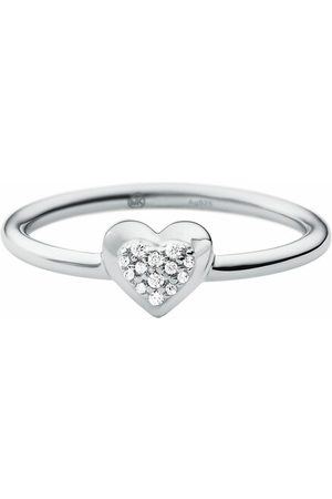 Michael Kors Ring Sterling Silver Pavé Heart Focal Ring silber