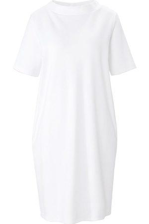 Green Cotton Jersey-Kleid 1/2-Arm weiss