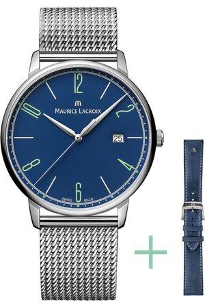 Maurice Lacroix Damen Uhren - Schweizer Uhr »Eliros Date, EL1118-SS00E-420-C«, (Set, 2-tlg., mit Wechselband aus Edelstahl)