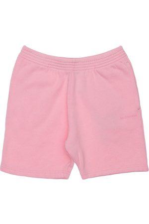 Balenciaga Mädchen Shorts - Trainingsshorts Aus Baumwolle Mit Logodruck