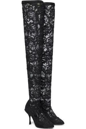 Dolce & Gabbana Overknee-Stiefel Coco aus Spitze